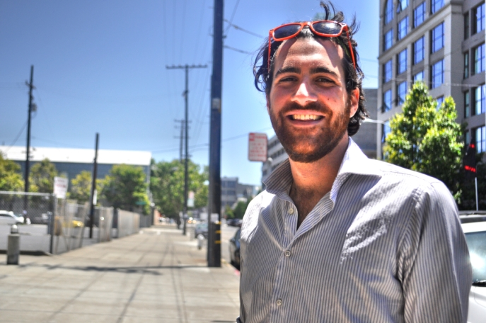 For over year, Tommaso Boggia conducted research asking residents how they would like to see Jack London Square improve. Photo: Lauren Benichou
